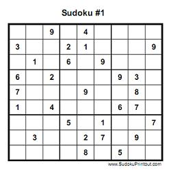 Example of printable sudoku: